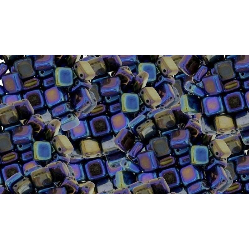 6mm Iris - Blue CzechMates плитка (Tile) бисер