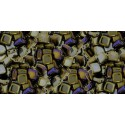 6mm Iris - Brown CzechMates Tile beads
