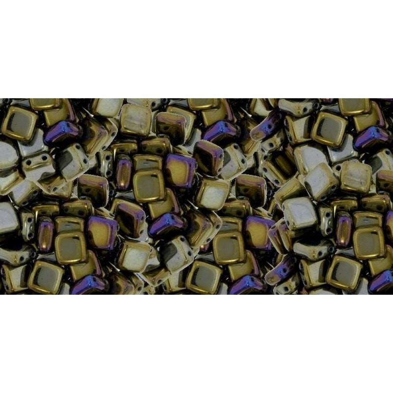 6mm Iris - Brown CzechMates плитка (Tile) бисер