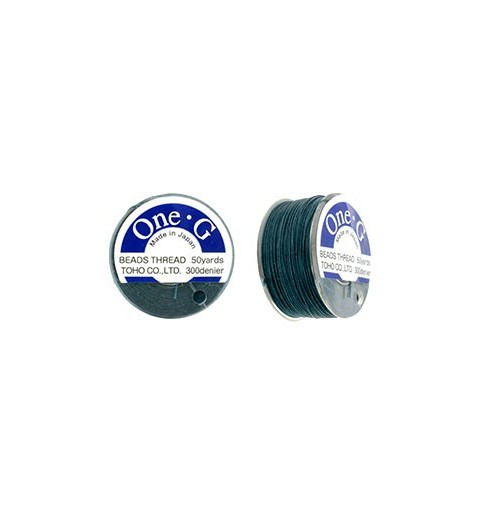 Deep Green TOHO One-G Beading Thread 330dTex Bobbin 46m (50yd) long