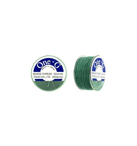 Mint Green TOHO One-G Beading Thread 330dTex Bobbin 46m (50yd) long