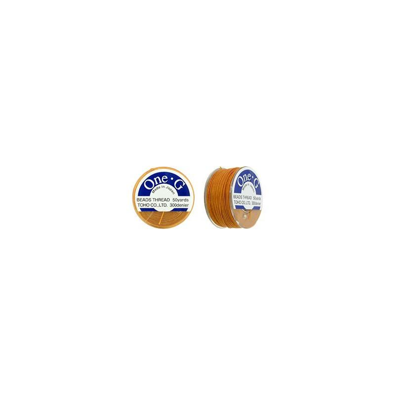 Orange TOHO One-G Beading Thread 330dTex Bobbin 46m (50yd) long