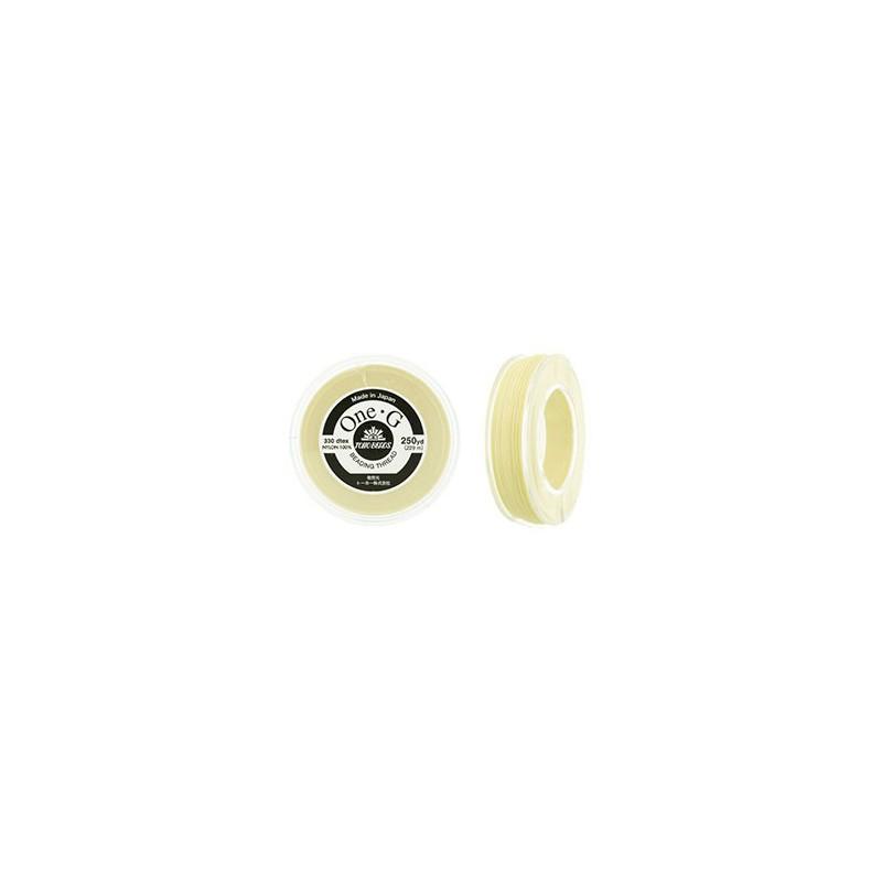 Cream TOHO One-G Beading Thread Bobbin 228.6m (250yd) long