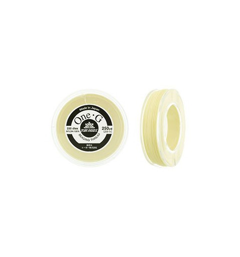 Cream TOHO One-G Beading Thread Bobbin 228.6m (250yd) long