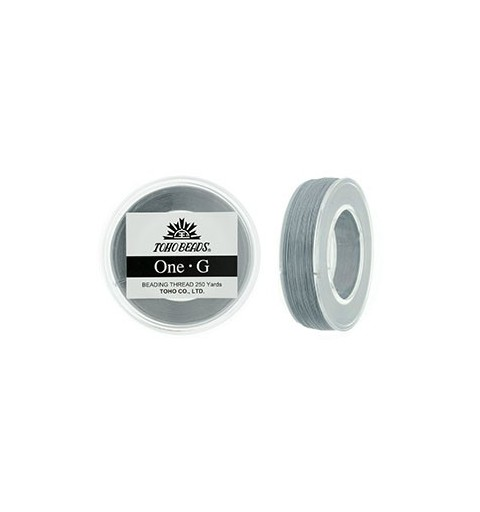 Gray TOHO One-G Beading Thread Bobbin 228.6m (250yd) long