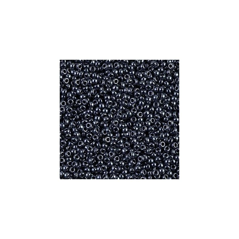 RR-11-451 Hematite Metallic Miyuki Круглые Rocailles 11/0