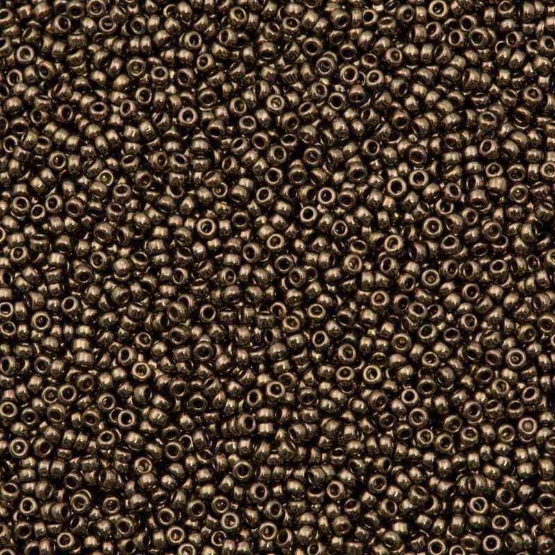 RR-15-457 Dark Bronze Metallic Miyuki Круглые Rocailles 15/0