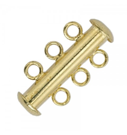 magnetic slide clasp Gold tone 3 rows approx. 11x20mm