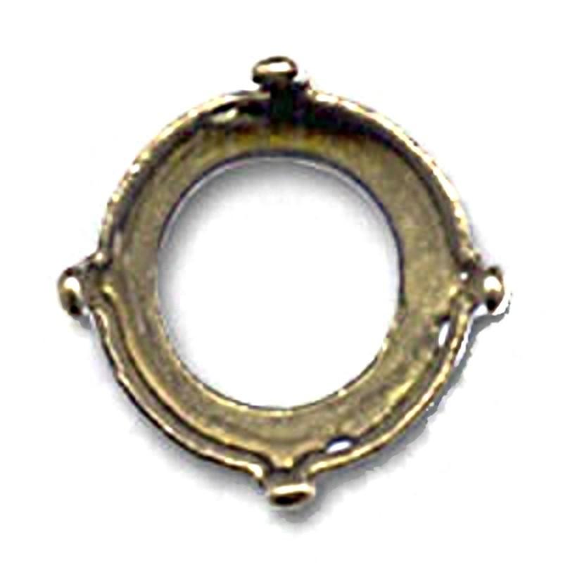 10mm (SS45) Оправа для Сваровски Риволи 1122 цвет бронзовый (4 отвестия, 4 зажима)