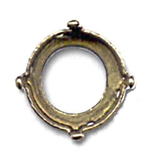 10mm (SS45) Kivipesa Swarovski Rivolile 1122 pronks värvi (4 auku, 4 kinnitust)