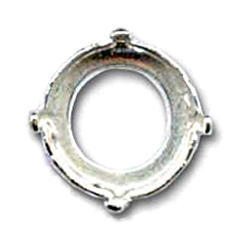 10mm (SS45) Оправа для Сваровски Риволи 1122 цвет Серебра (4 отвестия, 4 зажима)