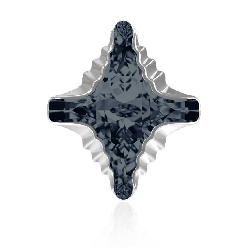 14x12mm Graphite Light Chrome Z F (253 LTCHZ) Rhombus Tribe Ehete Kristall 4927 Swarovski Elements