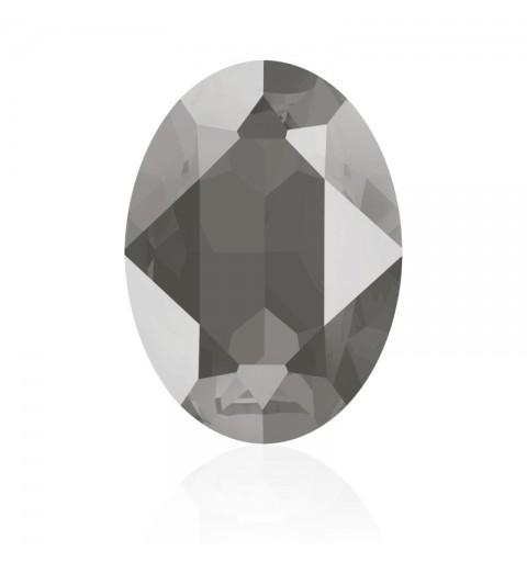 14x10mm Crystal Dark Grey (001 L111S) Овальный Кристалл для украшений 4120 Swarovski Elements