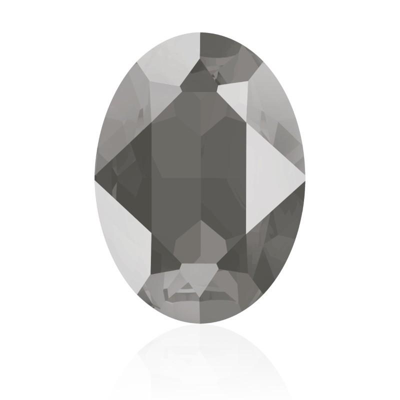18x13mm Crystal Dark Grey (001 L111S) Oval Fancy Stone 4120 Swarovski Elements