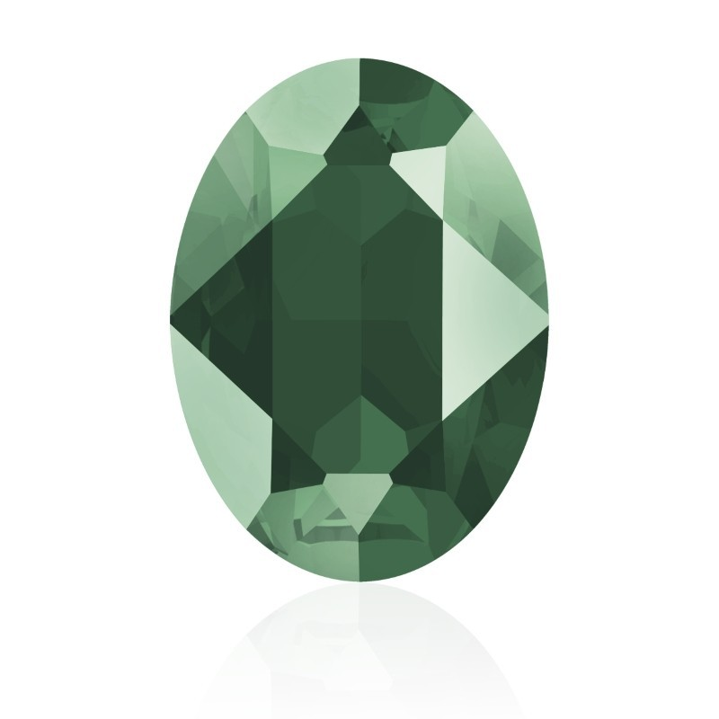 18x13mm Crystal Royal Green (001 L109S) Oval Fancy Stone 4120 Swarovski Elements
