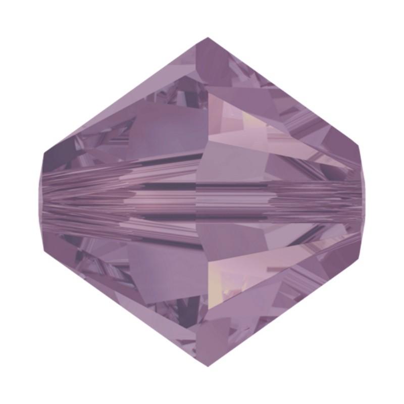 4MM Cyclamen Opal (398) 5328 XILION Bi-Cone Beads SWAROVSKI ELEMENTS