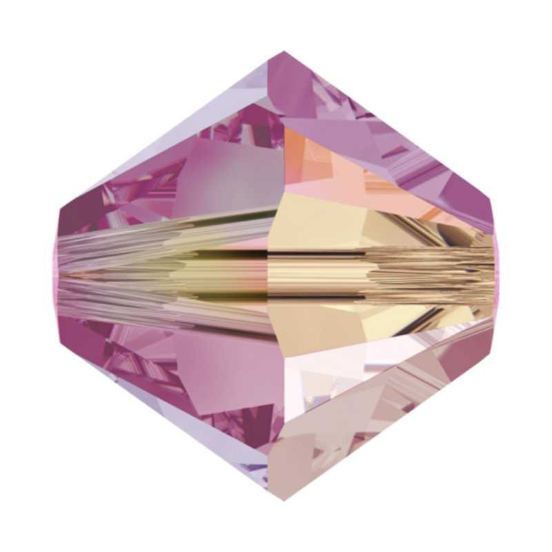 4MM Rose AB2x (209 AB2) 5328 XILION Bi-Cone Beads SWAROVSKI ELEMENTS