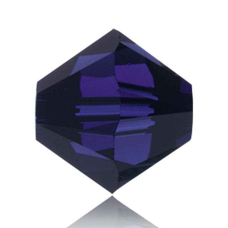 4MM Dark Indigo (288) 5328 XILION Bi-Cone Beads SWAROVSKI ELEMENTS
