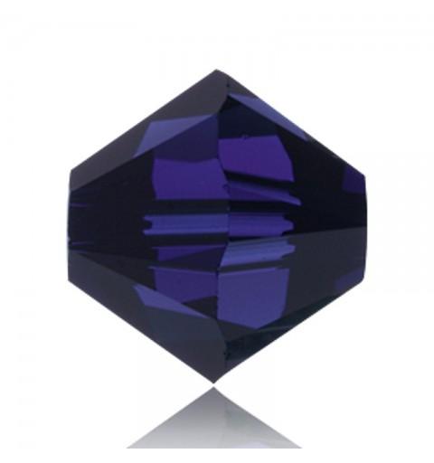 6MM Dark Indigo (288) 5328 XILION Bi-Cone Beads SWAROVSKI ELEMENTS