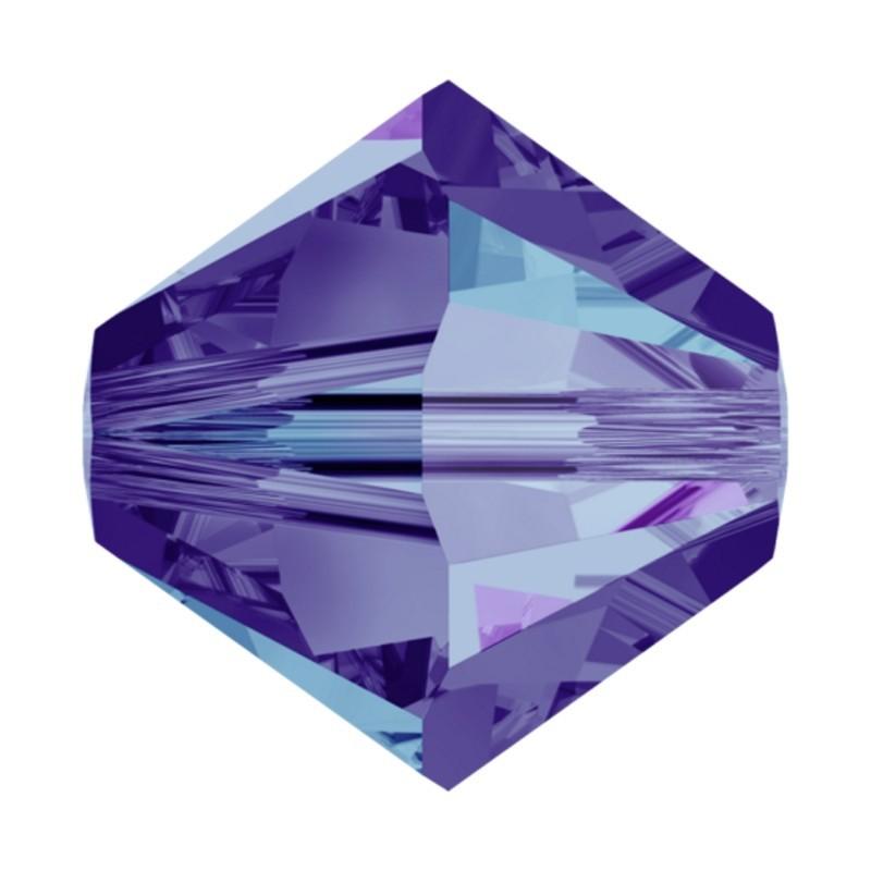 3MM Crystal Heliotrope (001 HEL) 5328 XILION Bi-Cone Beads SWAROVSKI ELEMENTS