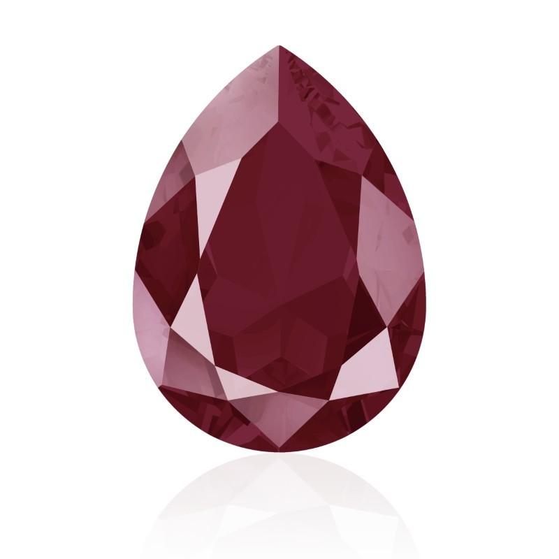 18x13mm Crystal Dark Red (001 L108S) Pear-Shaped Fancy Stone 4320 Swarovski Elements