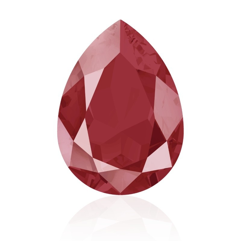 18x13mm Crystal Royal Red (001 L107S) Pear-Shaped Fancy Stone 4320 Swarovski Elements