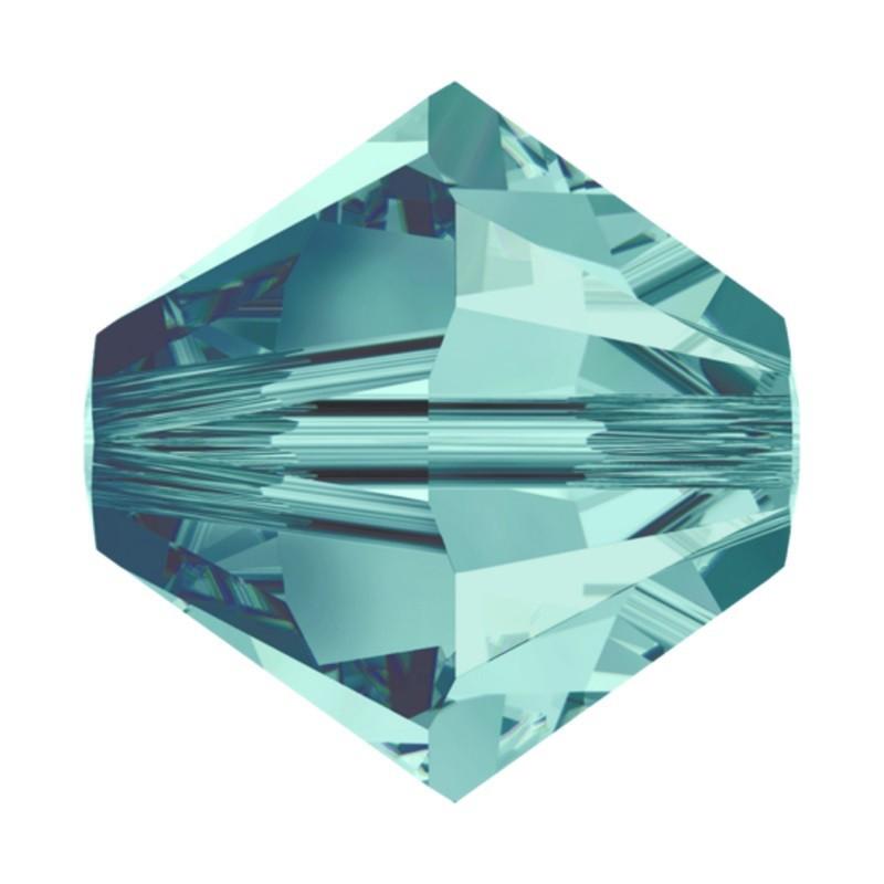 4MM Blue Zircon (229) 5328 XILION Bi-Cone Бусины SWAROVSKI ELEMENTS