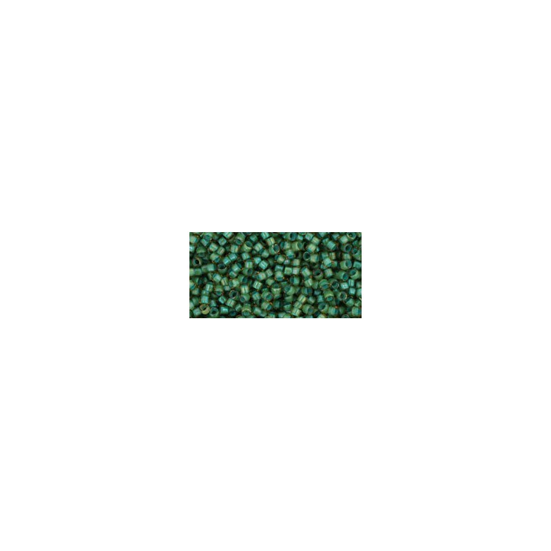 TT-01-952 Inside-Color Rainbow Light Topaz/Sea Foam Lined TOHO Treasures Seed Beads