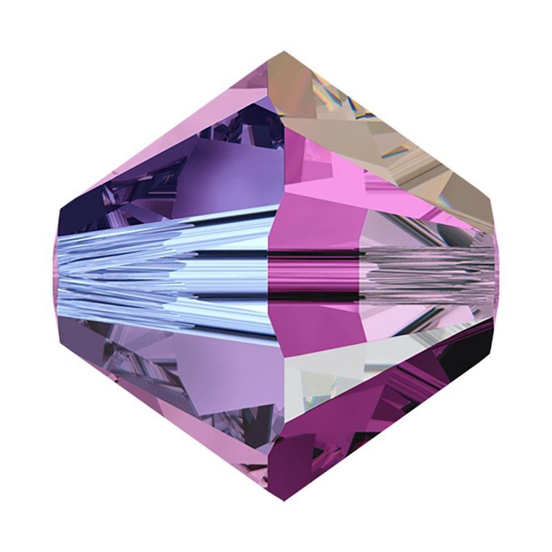 4MM Amethyst AB2x (204 AB2) 5328 XILION Bi-Cone Beads SWAROVSKI ELEMENTS