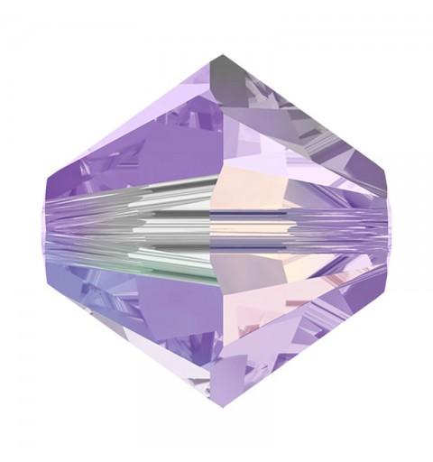 4MM Tanzanite AB2x (539 AB2) 5328 XILION Bi-Cone Beads SWAROVSKI ELEMENTS