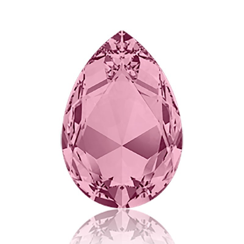 30x20mm Crystal Antique Pink F (001 ANTP) Pear-Shaped Fancy Stone 4327 Swarovski Elements