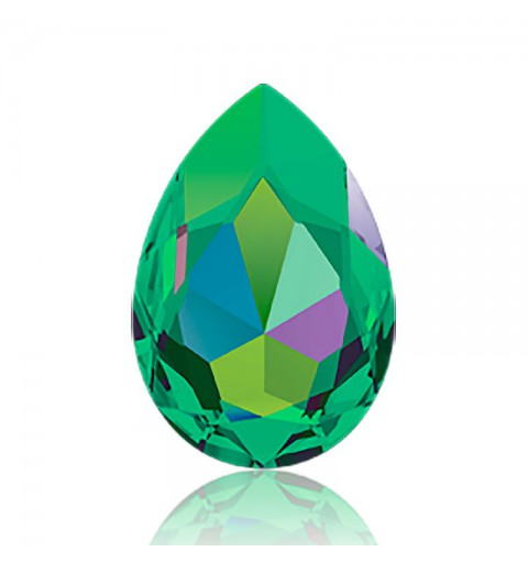 30x20mm Crystal Vitrail Medium (001 VM) Pear-Shaped Fancy Stone 4327 Swarovski Elements