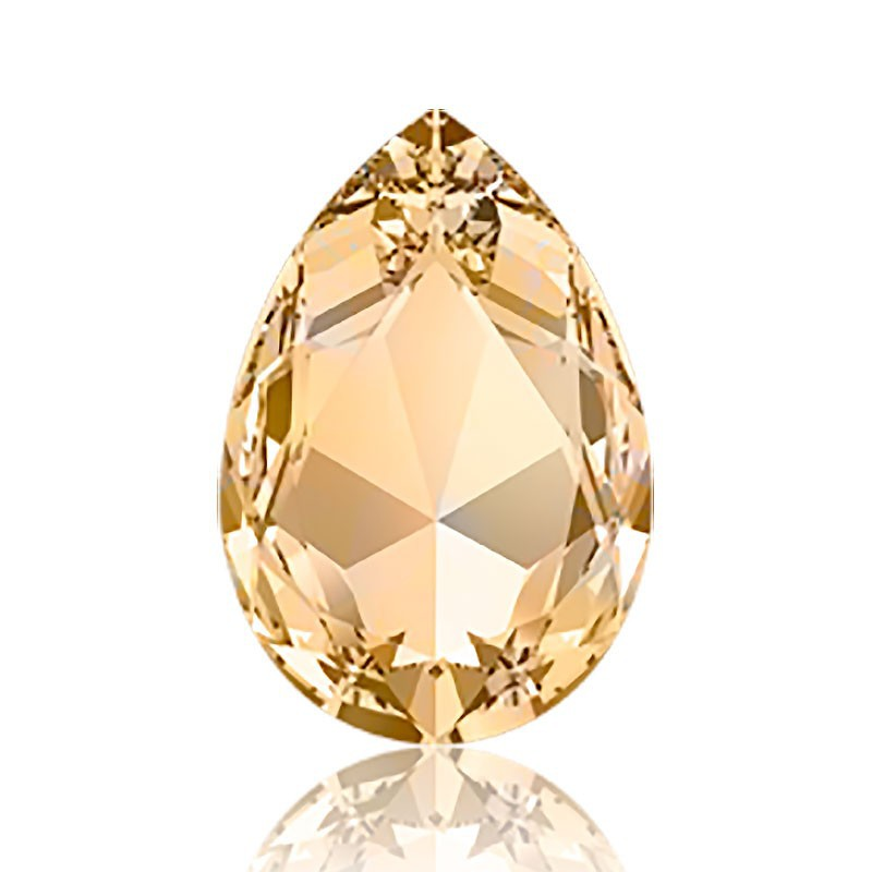 30x20mm Light Colorado Topaz F (246) Pear-Shaped Fancy Stone 4327 Swarovski Elements