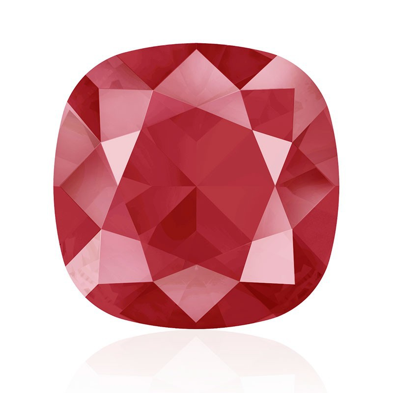 10mm Crystal Royal Red (001 L107S) Cushion Square Fancy Stone 4470 Swarovski Elements