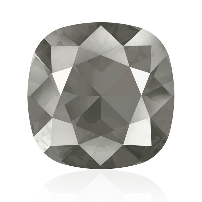 12mm Crystal Dark Grey (001 L111S) Cushion Square Fancy Stone 4470 Swarovski Elements