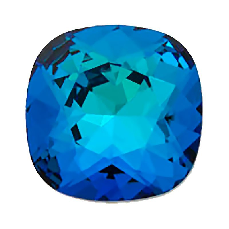 12mm 4470 Crystal Bermuda Blue F (001 BB) Cushion Square Fancy Stone Swarovski Elements