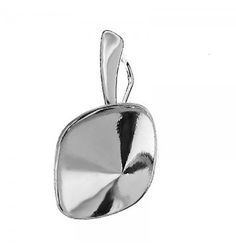 For Cushion Square 4470 12mm Swarovski Silver Sterling pendants hanging part