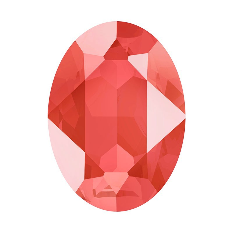 14x10mm Crystal Light Coral (001 L116S) Oval Fancy Stone 4120 Swarovski Elements