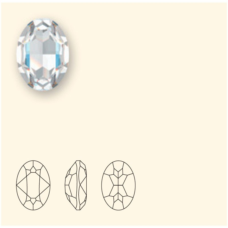 14x10mm Crystal Summer Blue (001 L114S) Oval Fancy Stone 4120 Swarovski Elements