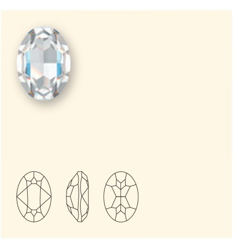 18x13mm Crystal Azure Blue (001 L112S) Oval Fancy Stone 4120 Swarovski Elements