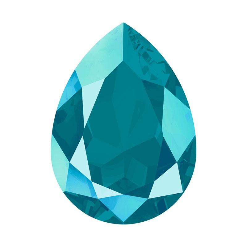 14x10mm Crystal Azure Blue (001 L112S) Pear-Shaped Fancy Stone 4320 Swarovski Elements