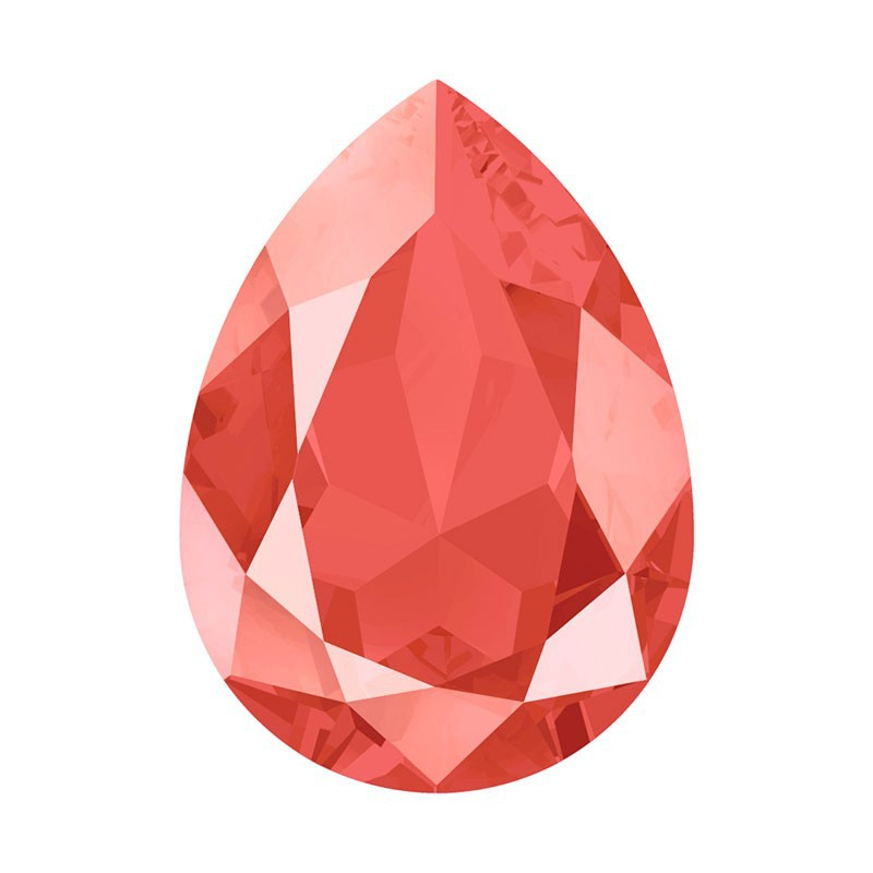 14x10mm Crystal Light Coral (001 L116S) Pear-Shaped Fancy Stone 4320 Swarovski Elements