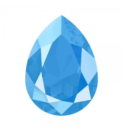 18x13mm Crystal Summer Blue (001 L114S) Pear-Shaped Fancy Stone 4320 Swarovski Elements