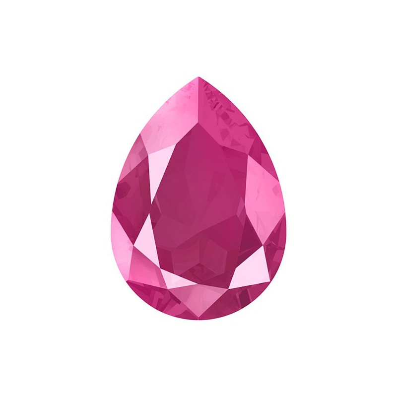 14x10mm Crystal Peony Pink (001 L113S) Pear-Shaped Fancy Stone 4320 Swarovski Elements