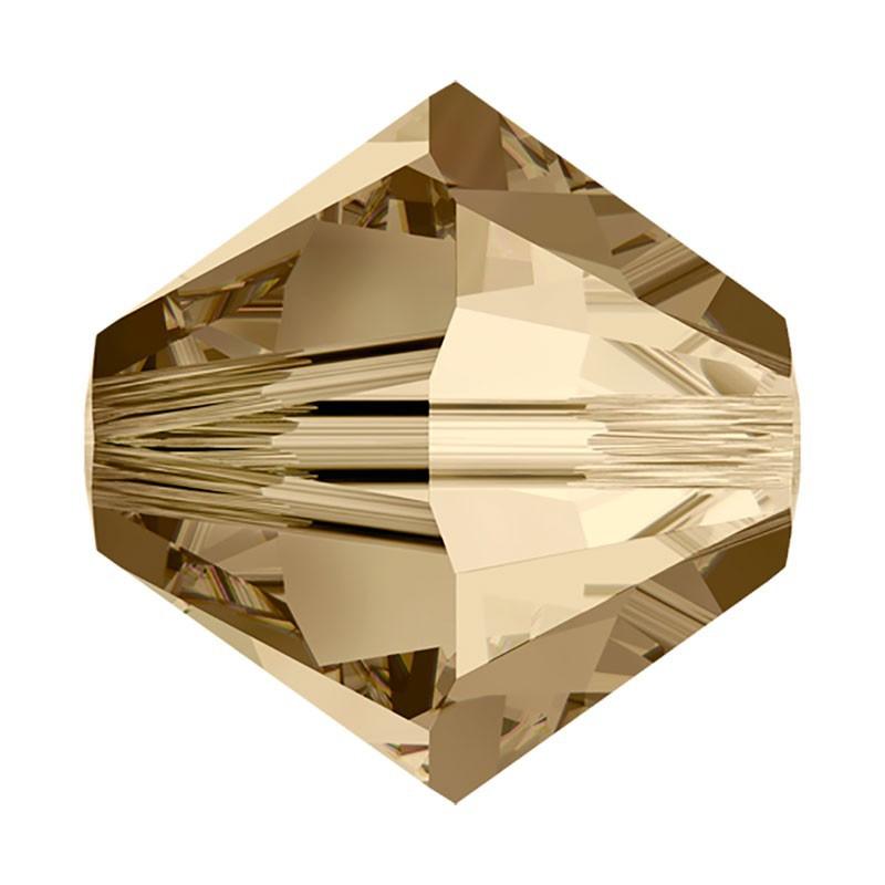 6MM Crystal Golden Shadow (001 GSHA) 5328 XILION Bi-Cone Бусины SWAROVSKI ELEMENTS