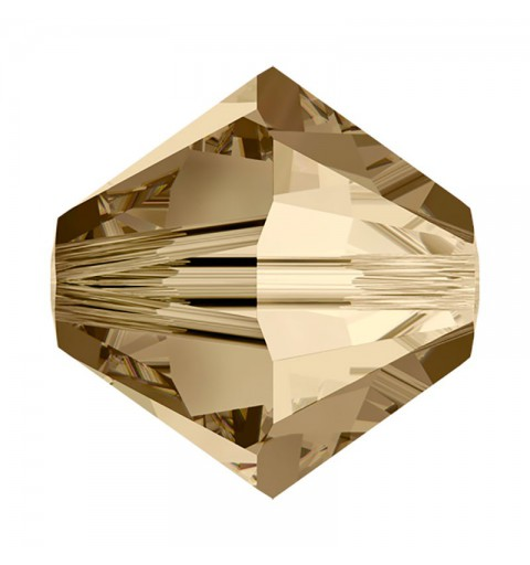 6MM Crystal Golden Shadow (001 GSHA) 5328 XILION Bi-Cone Beads SWAROVSKI ELEMENTS