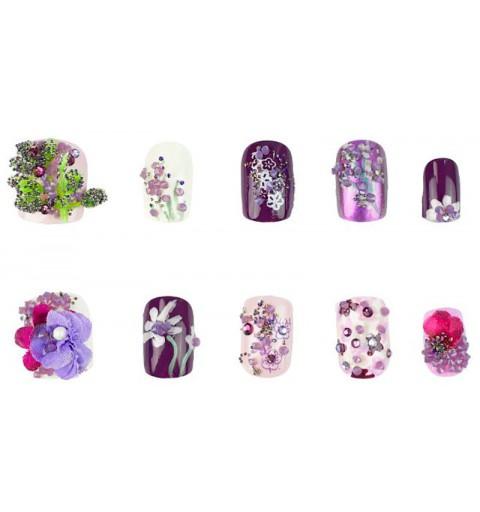 Purple Blossom CRYSTAL PIXIE EDGE Swarovski