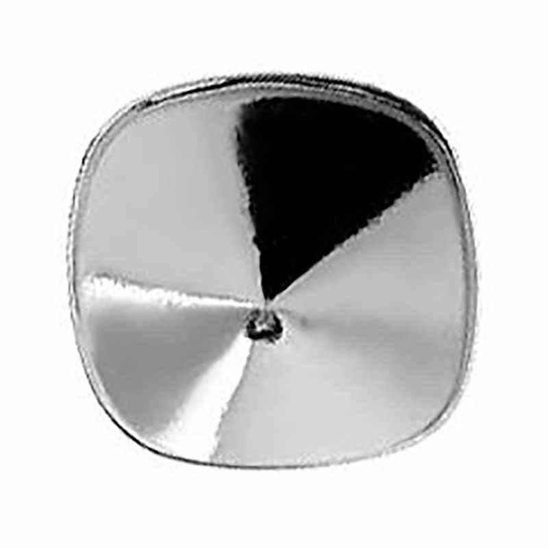 Cushion Square 4470 12mm Swarovski Silver Lever back with setting