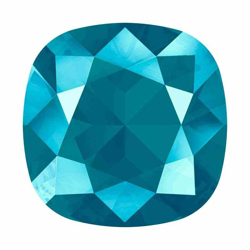 12mm 4470 Crystal Azure Blue (001 L112S) Cushion Square Fancy Stone Swarovski