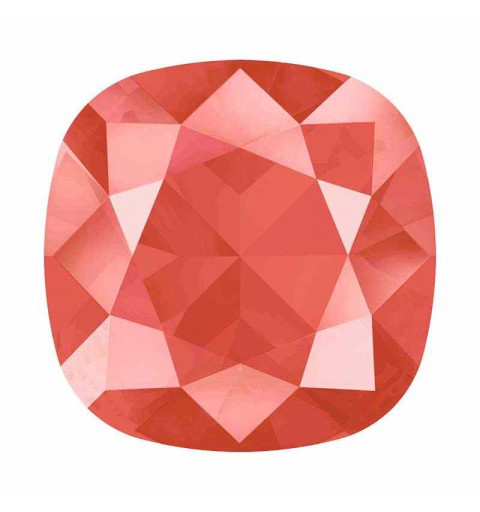 10mm Crystal Light Coral (001 L116S) Cushion Square Fancy Stone 4470 Swarovski
